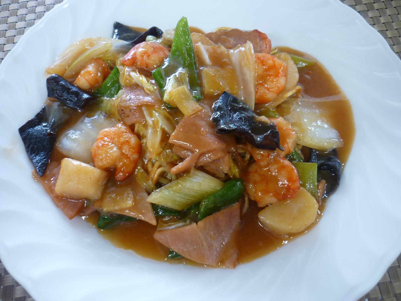 什錦炒麺(あんかけ焼きそば)