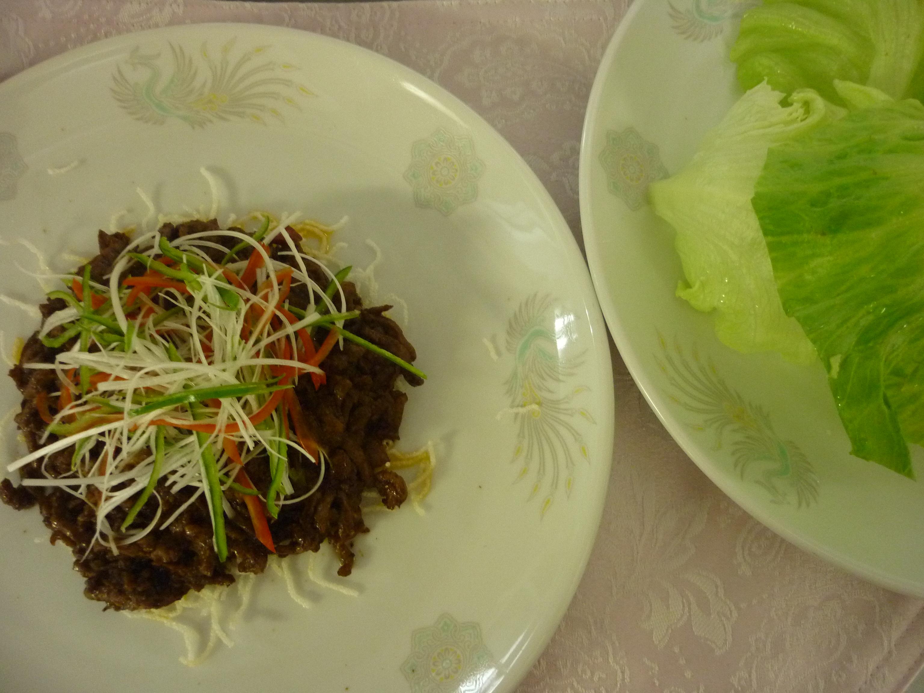 生菜包牛絲
